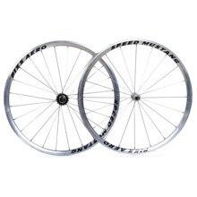 Lekkie jednobiegowe kolarskie koła rowerowe rowerowe koło rowerowe akcesoria 20 szprych 700C ze stopu aluminium błyszczący