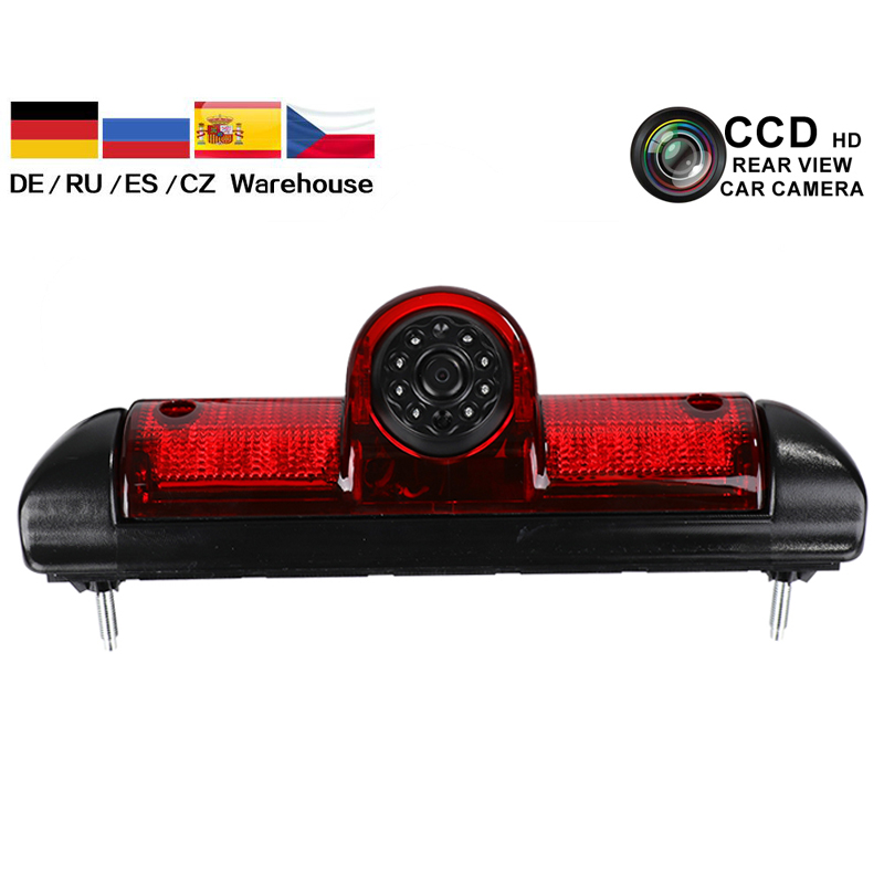Car Reversing Rear View Camera CCD Car Brake Light Led Backup Camera For FIAT DUCATO X250 Citroen JUMPER III Peugeot BOXER III