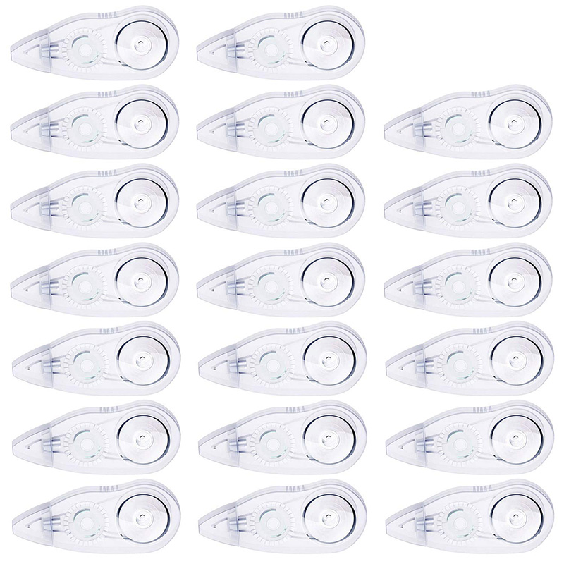 20 Pack Correction Tape Mini White Out Tape Cute Writing Tape Semi-Automatic Instant Corrective Tape For School Kids Students
