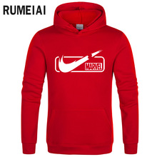 New 2019 Autumn High quality Brand Sweatshirts Men Quality MARVEL letter printing fashion mens hoodies sudaderas para hombr
