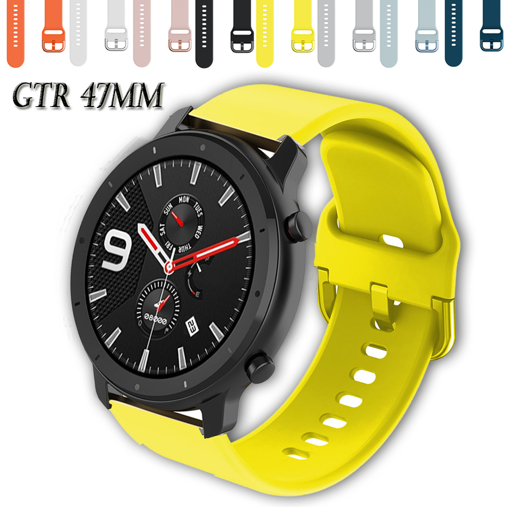 Silicone Watch Band Strap For Xiaomi Huami Amazfit GTR 47mm Sport 3 Stratos Pace 2 Replacement Bracelet 22mm Watchband Wristband