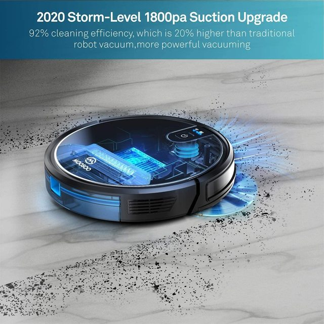 MT-710 Wi-Fi Robot Vacuum Cleaner 1800PA Suction Smart Memory Smart Life App Control Self-Charging Robotic Vacuum 3