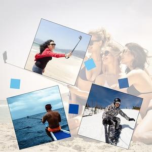 Image 5 - 29 inç alüminyum Monopod GoPro Hero 9 8 7 6 5 Sjcam Sj8 Yi 4K Eken H9 eylem kamera Selfie sopa git Pro aksesuar için