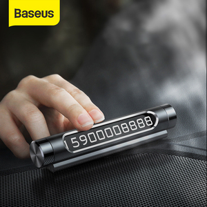 Image 1 - Baseus Car Temporary Parking Card Luminous Phone Number Plate Auto Stickers Drawer Style Car Styling Rocker Switch