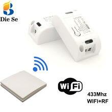 Wifi inalámbrico interruptor inteligente receptor RF de 433Mhz Módulos de Automatización de domótica 86 Panel de pared Control remoto para luz LED