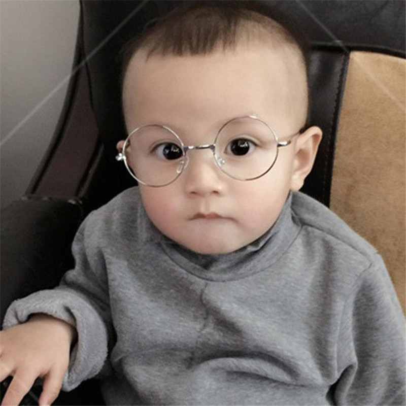 2019 Fashion Round Children Glasses Frame Baby Boys Girls Eyeglasses Frame Vintage Kids Clear Lens Optical Spectacle 2 9 old in Men 39 s Eyewear Frames from Apparel Accessories