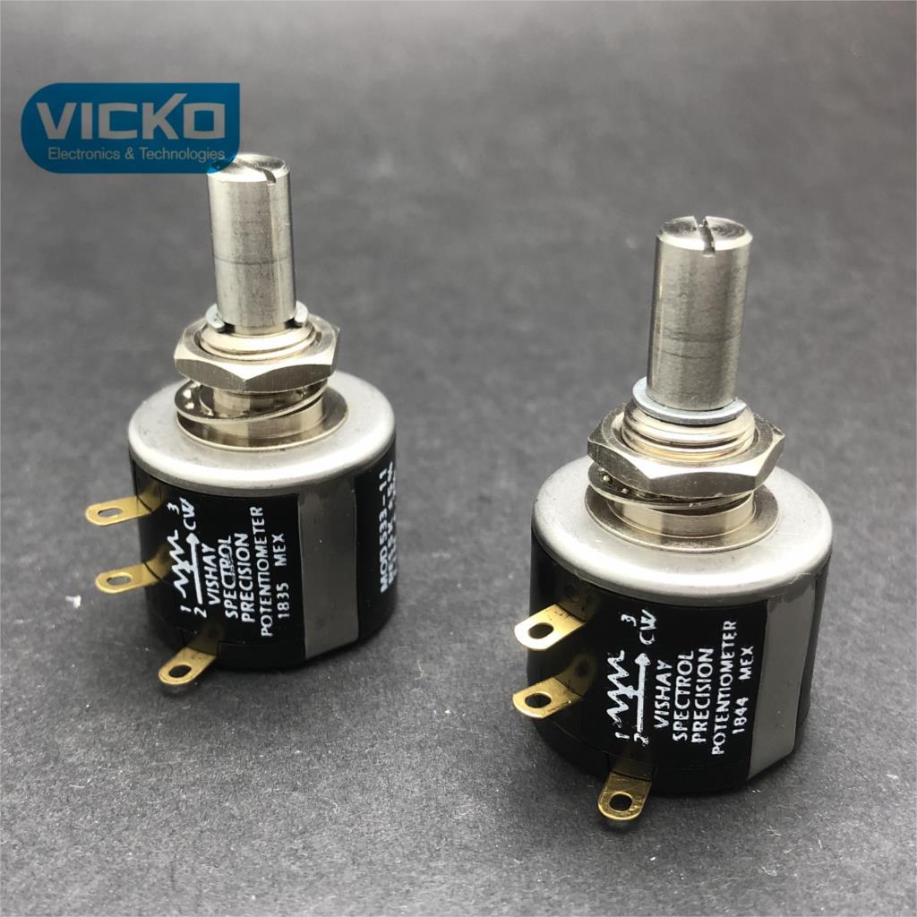 [YK[ original MOD533-11 MOD 533-11 MOD 533 RES 1K 5% LIN.2 % 2% VISHAY SPECTROL précision potentiomètre commutateur haute précision