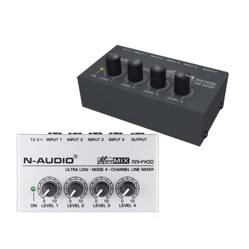 Für Familie KTV 4 Kanal Audio Mischer Geräuscharm Karaoke Stereo Mixer Nützlich Mini Micro Tragbare 4 Kanal Audio Mixer