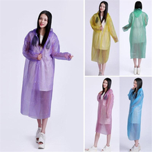 Fashion Women Raincoat Thickened Waterproof Rain Coat Disposable Adult Emergency Hood