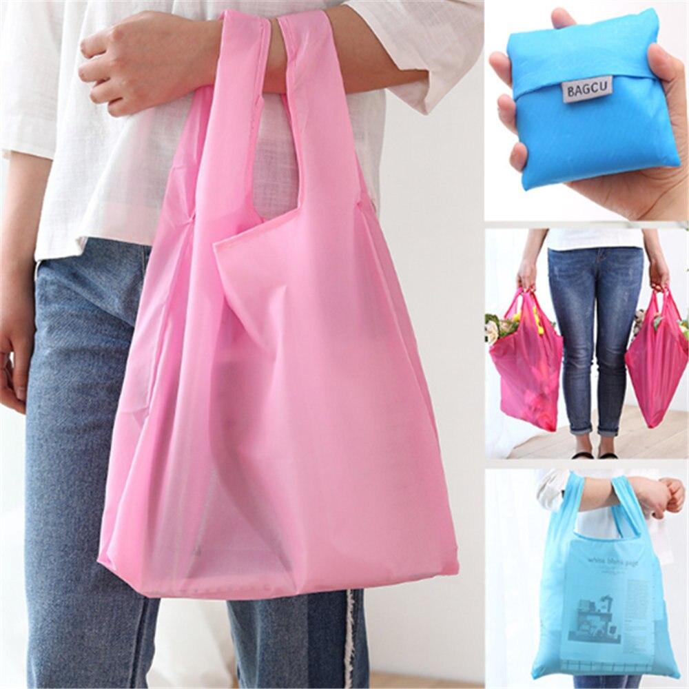 1 pc Fashion Waterproof Shopping Bag Portable Folding Creative Reusable Foldable Eco Tote Market Grocery