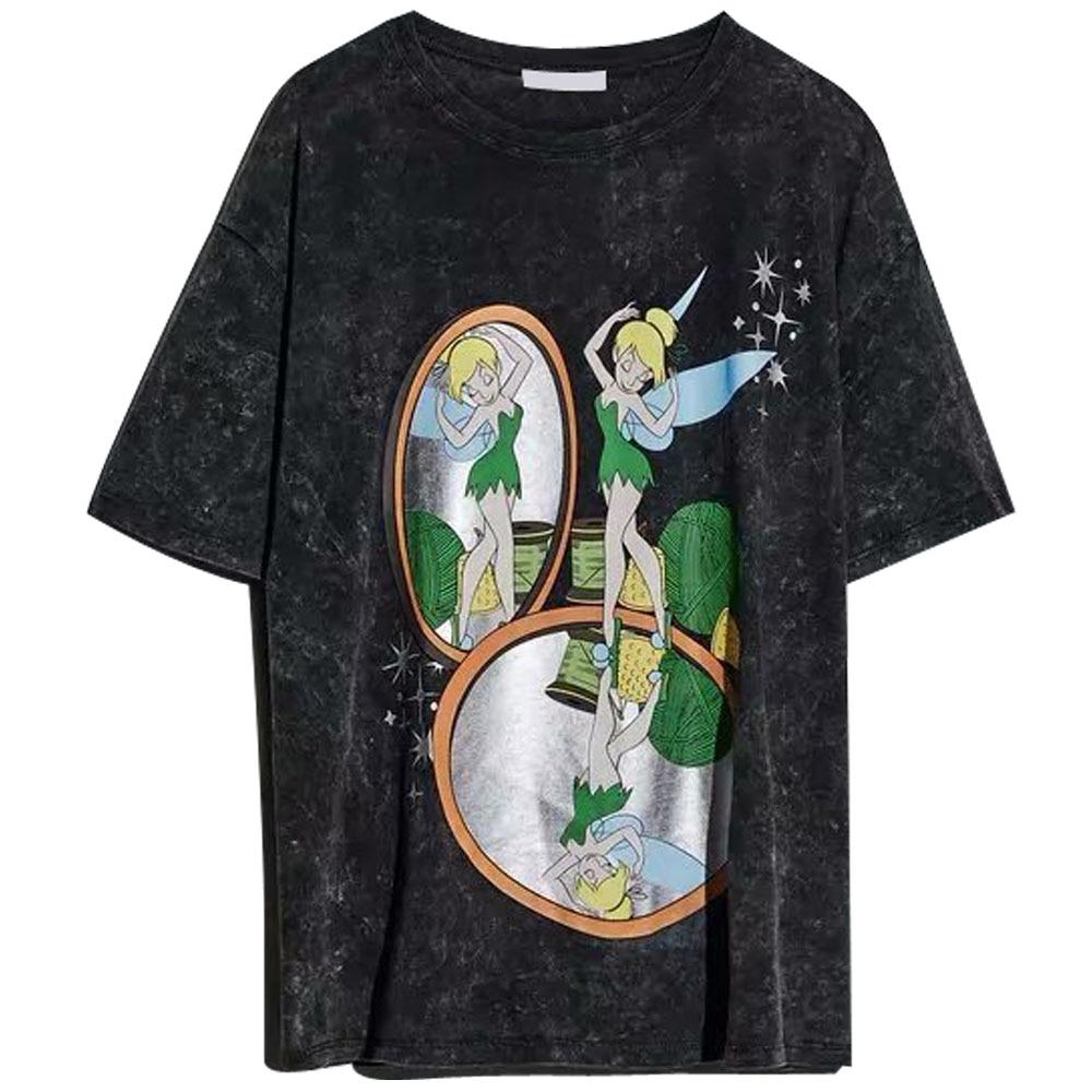 Disney Family T-Shirt Fashion Winnie the Pooh Mickey Mouse Stitch Fairy Dumbo SIMBA Cartoon Print Women T-Shirt Cotton Tee Tops 4