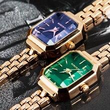Reloj mujer BOBOBIRD – montre de luxe pour femmes, transparente, dans boîte cadeau, Qaurtz, 2020, V-T01-3/4