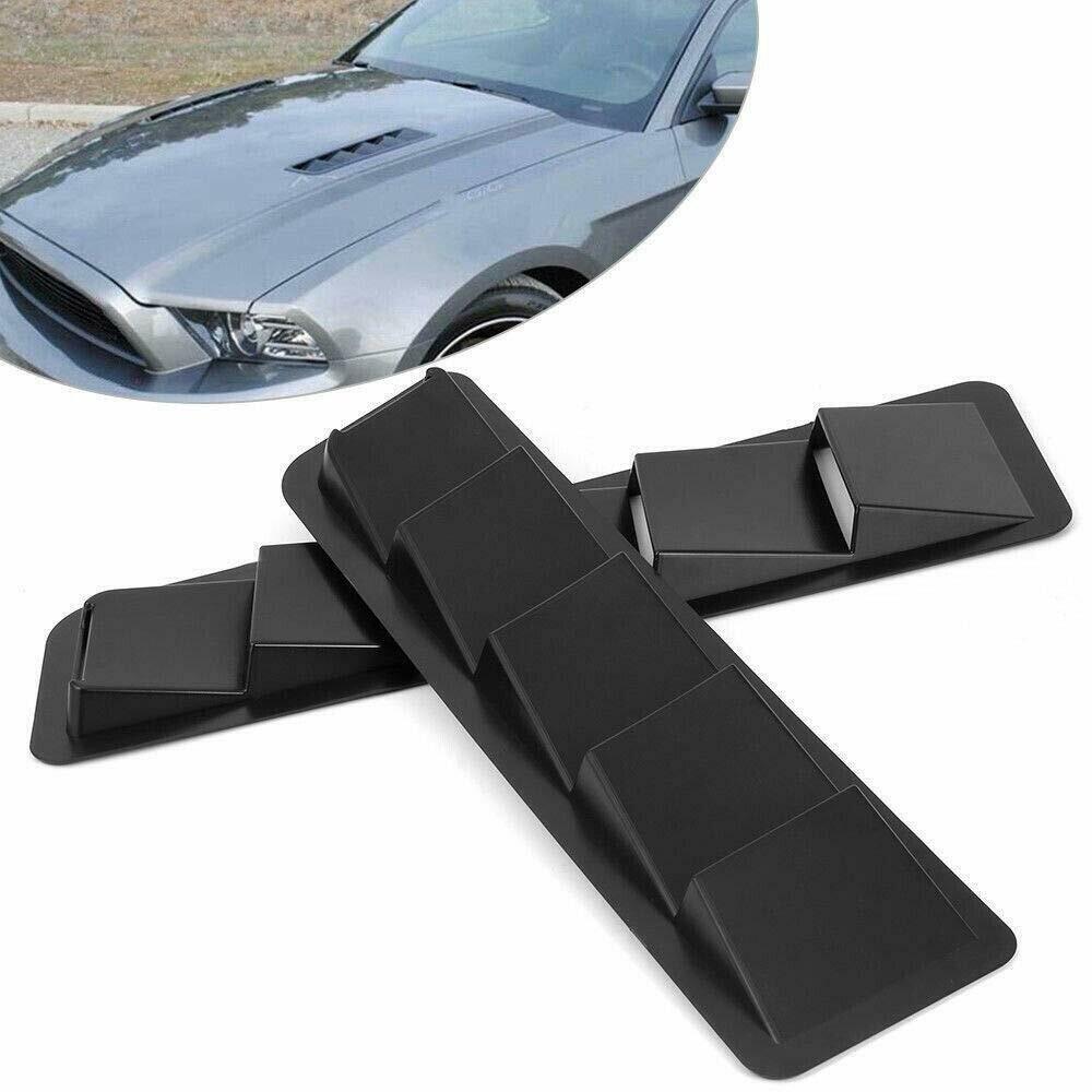 ABS Universal Haube Vent Paar Vents Air intake Scoop Bonnet Lamellen Spoiler Kühlung Panel Trim