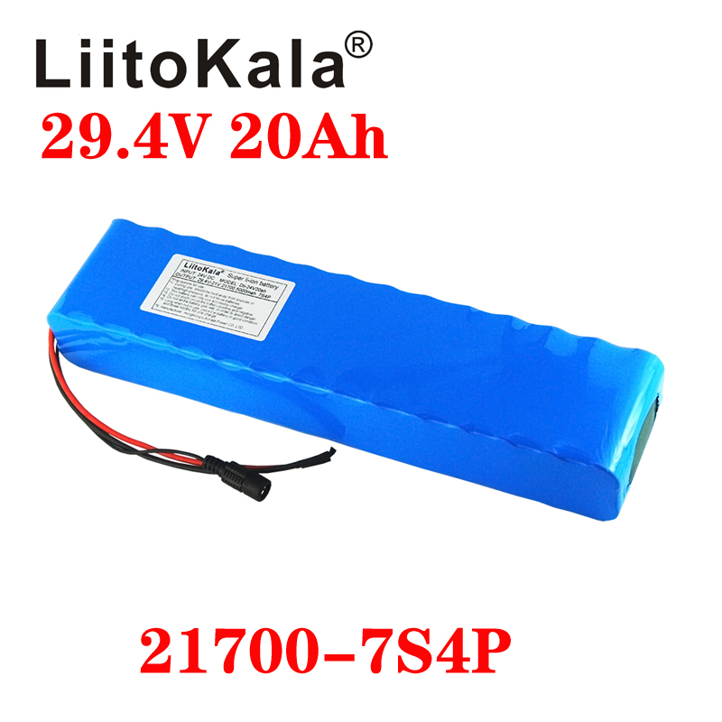 LiitoKala 24V 20Ah 25Ah 30Ah Battery Pack 21700 Battery Electric Bicycle Moped /electric/lithium Ion Battery Pack