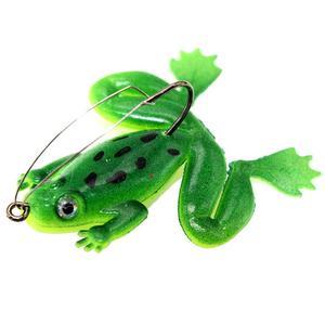 Image 4 - Мягкая рыболовная приманка в виде лягушки с крючком, 6 см