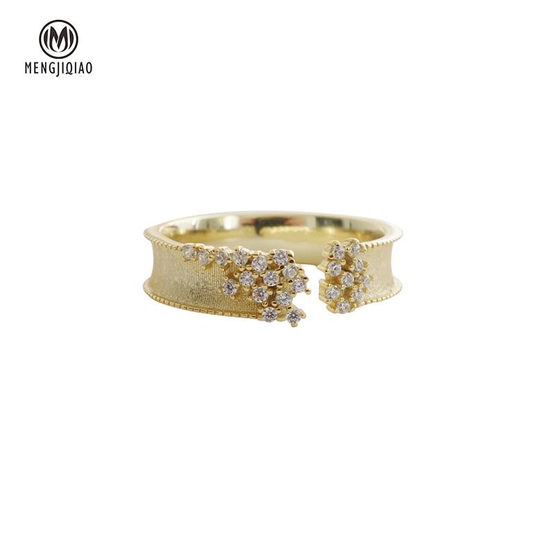 Купить женское кольцо с микро закрепкой mengjiqiao корейские открытые