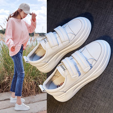 ZHR 2020 5CM Women Sneakers Leather White Shoes Spring Trend Casual Flats Sneakers Female Buckle Comfort Vulcanized Shoes Woman women sneakers leather shoes spring trend casual flats sneakers female new fashion comfort cute heart vulcanized platform shoes