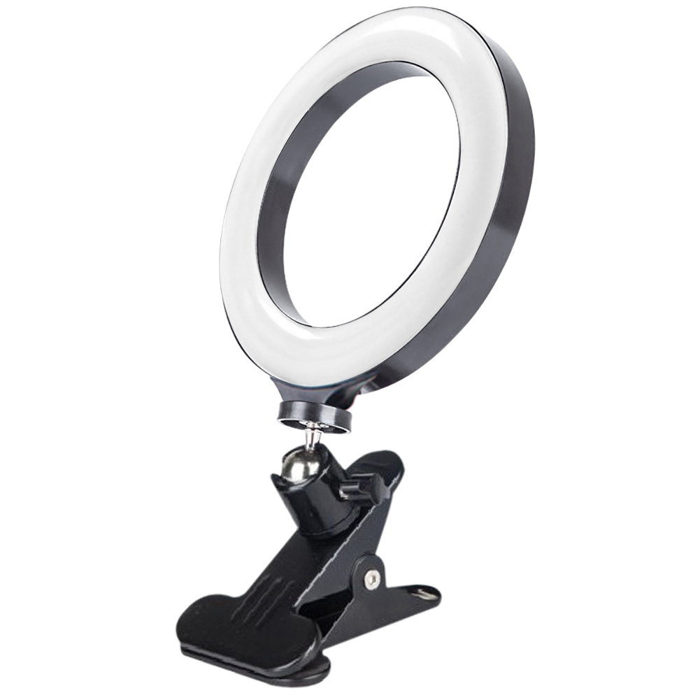 20cm Computer Fill Ring Light Mobile Phone Brightness Adjustable Selfie Lights Live Broadcast Video Fill Light Beauty Lighting