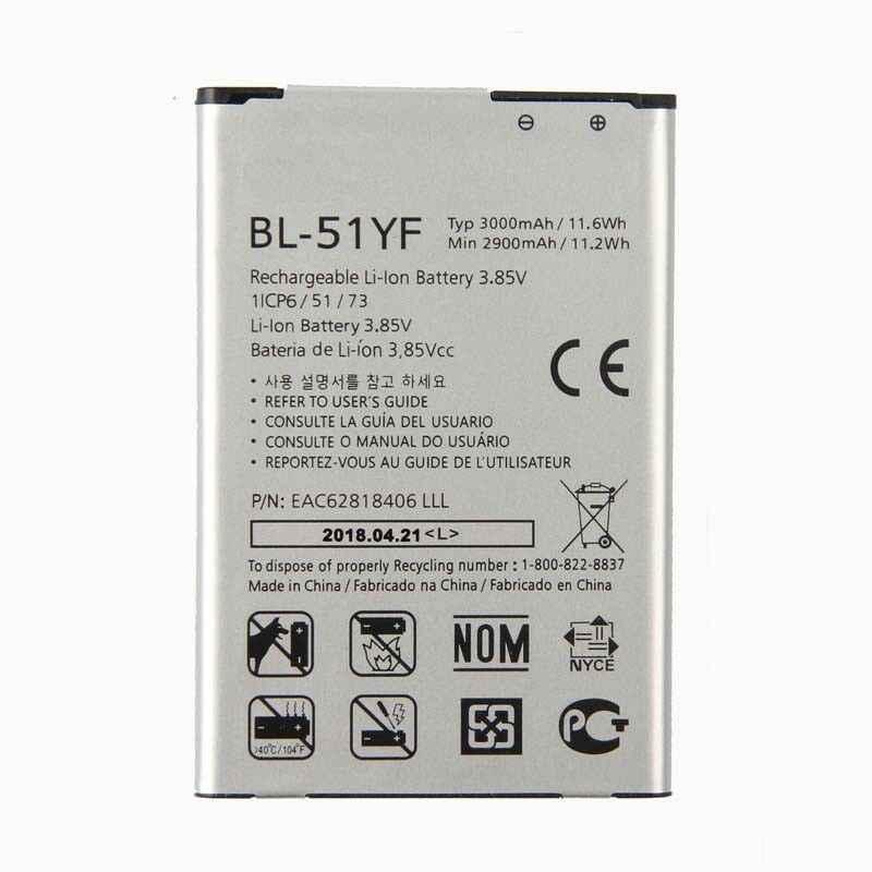 Asli BL-51YF Baterai untuk LG G4 H818 H815 H810 VS999 F500 3000 MAh BL-51YF