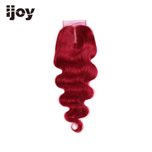 "Image 5 - Human Hair With 4x4 Lace Closure #1B/4/27/30/33/99J/Burgundy 8"" 20"" M Non Remy Body Wave Closure Brazilian Hair Extension IJOY"