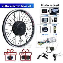 цена на 250w Rear E-Bike Conversion Kit 36v 250W KT-LCD3 KT Display Instrument Wheel 20inch 24inch 26 inch EBike Cycling Hub Convers
