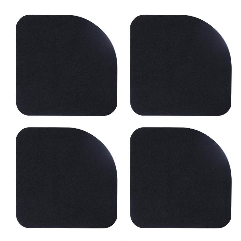 4pcs Black Square No Noise Refrigerator Mute Shock Mat Washing Machine Anti Vibration Pad