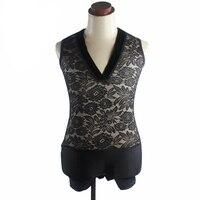New Latin Man Shirt Lace V Collar Tops Adult Male Tango Wear Dance Practice Ballroom Professional Men Latin Dance Clothes VDB654