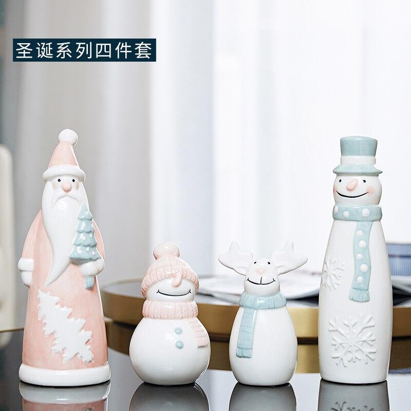 Ornamentos creativos nórdico adornos modernos de Papá Noel lindo sala de estar de moda regalo de Navidad decoración del hogar adornos de decoración DD6BJ - 5
