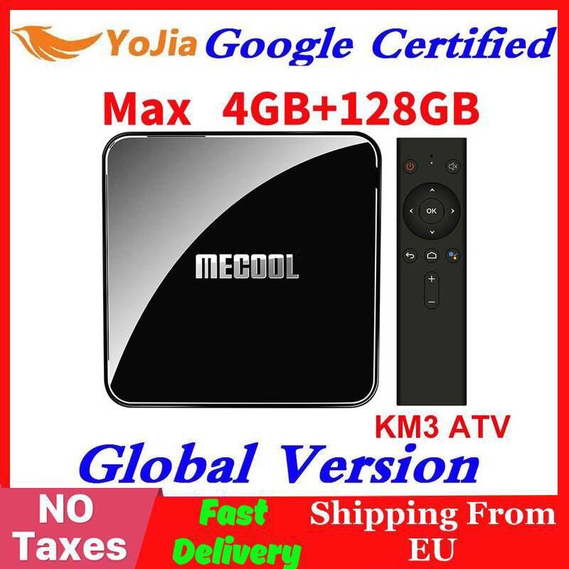Google Certified Androidtv 9.0 MECOOL KM3 TV Box Android 9.0 4GB RAM 64GB ROM 128GB Amlogic S905X2 4K 5G Wifi KM9 PRO ATV 2G16G