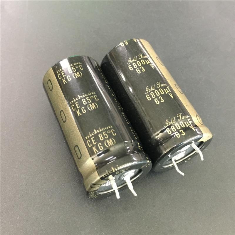 2pcs 6800uF 63V NICHICON KG Series 25x50mm 63V6800uF Gold Tune HiFi Audio Capacitor