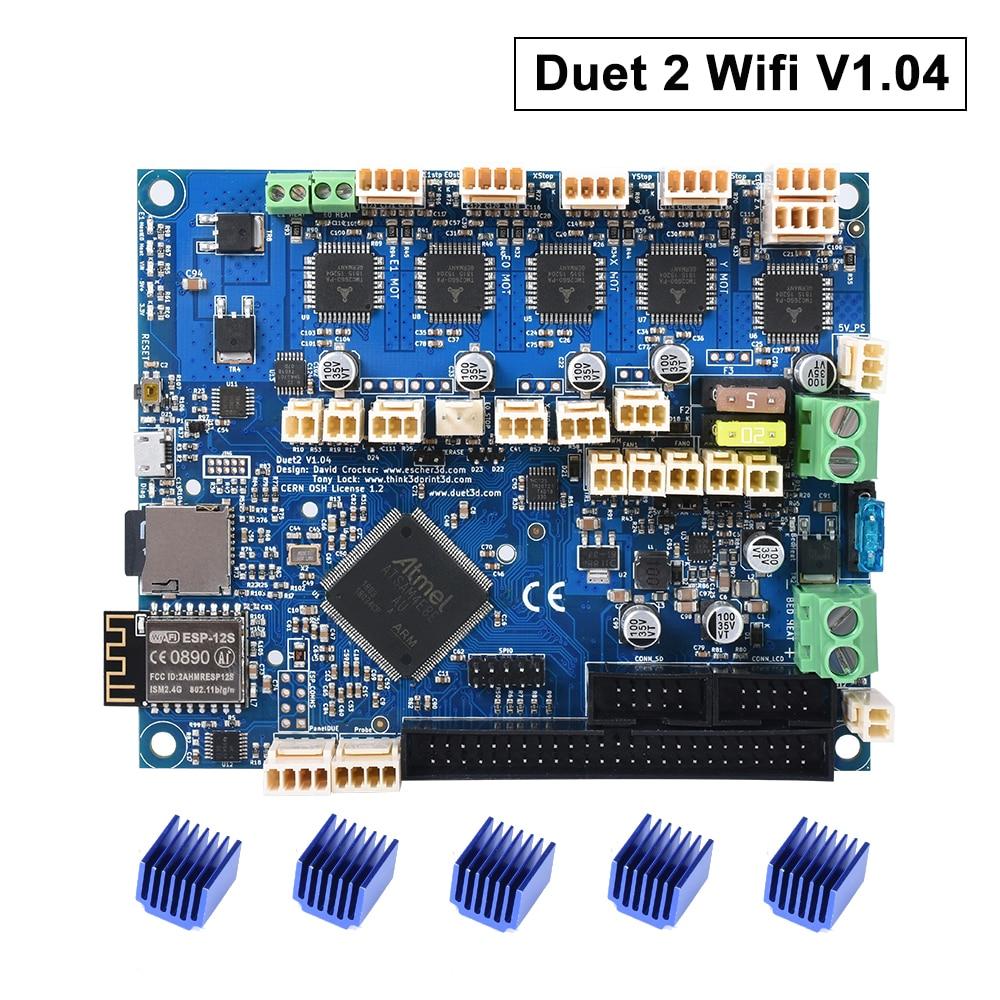 Cloned Duet 2 Wifi V1.04 Upgrade 32bit Control Board DuetWifi Advanced 32 Bit Motherboard For 3D Printer CNC Machine Ender 3 Pro