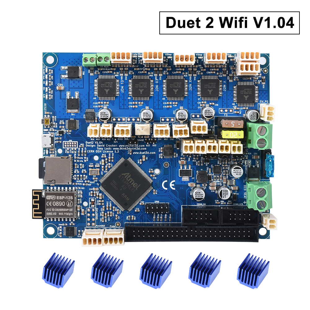Cloned Duet 2 Wifi V1.04 Upgrade 32bit Control Board DuetWifi Advanced 32 bit Motherboard For 3D Printer CNC Machine ender 3 pro image