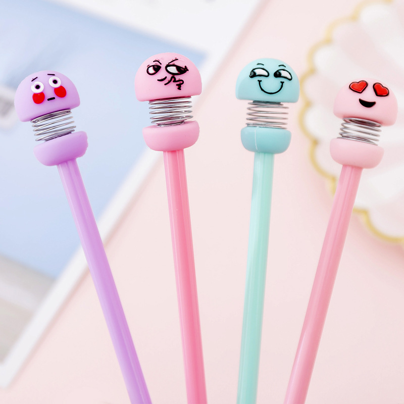 Kawaii Gel Pen Creative Stationery Cartoon Papelaria Cute Pens For School Caneta Boligrafo School Supplies Lapices Tinta Gel