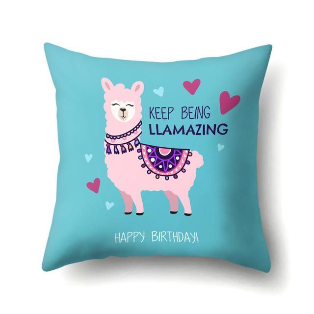 Llama cushion covers