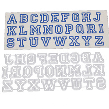 New 2020 DIY English Capital Letters Metal Cutting Dies Scrapbooking Stamps Craft Embossing Die Cut Making Stencil Template diy scrapbooking lace border background metal cutting dies craft die cut embossing stamps new 2018 stencil template