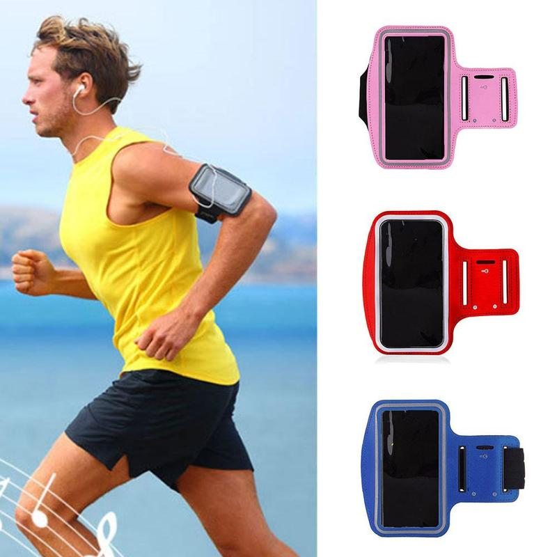 Outdoor Sports Fitness Arm Bag Universal Mobile Phone Armband Running Exercise Wrist Bag Equipment