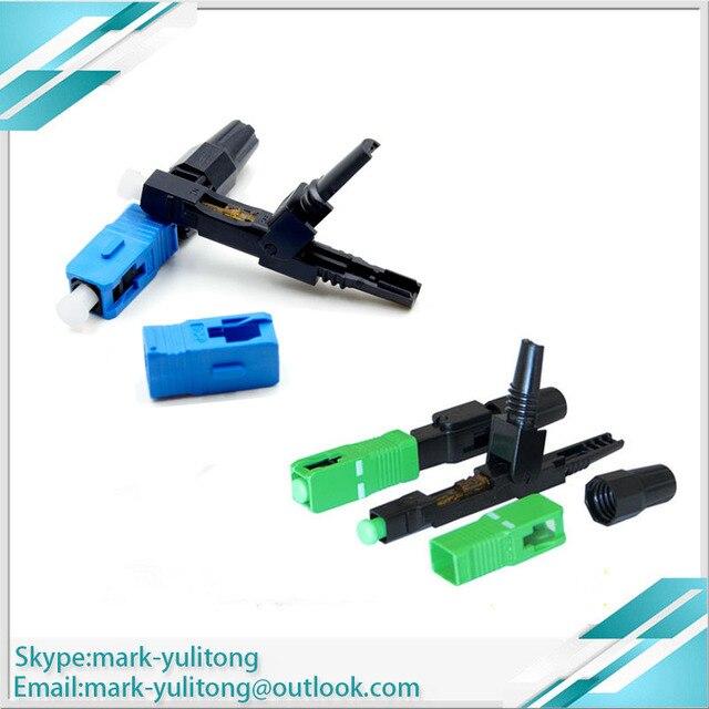 100pcs 광섬유 optica sc upc 커넥터 sc 빠른 광섬유 conector fibra optica ftth conector sc apc