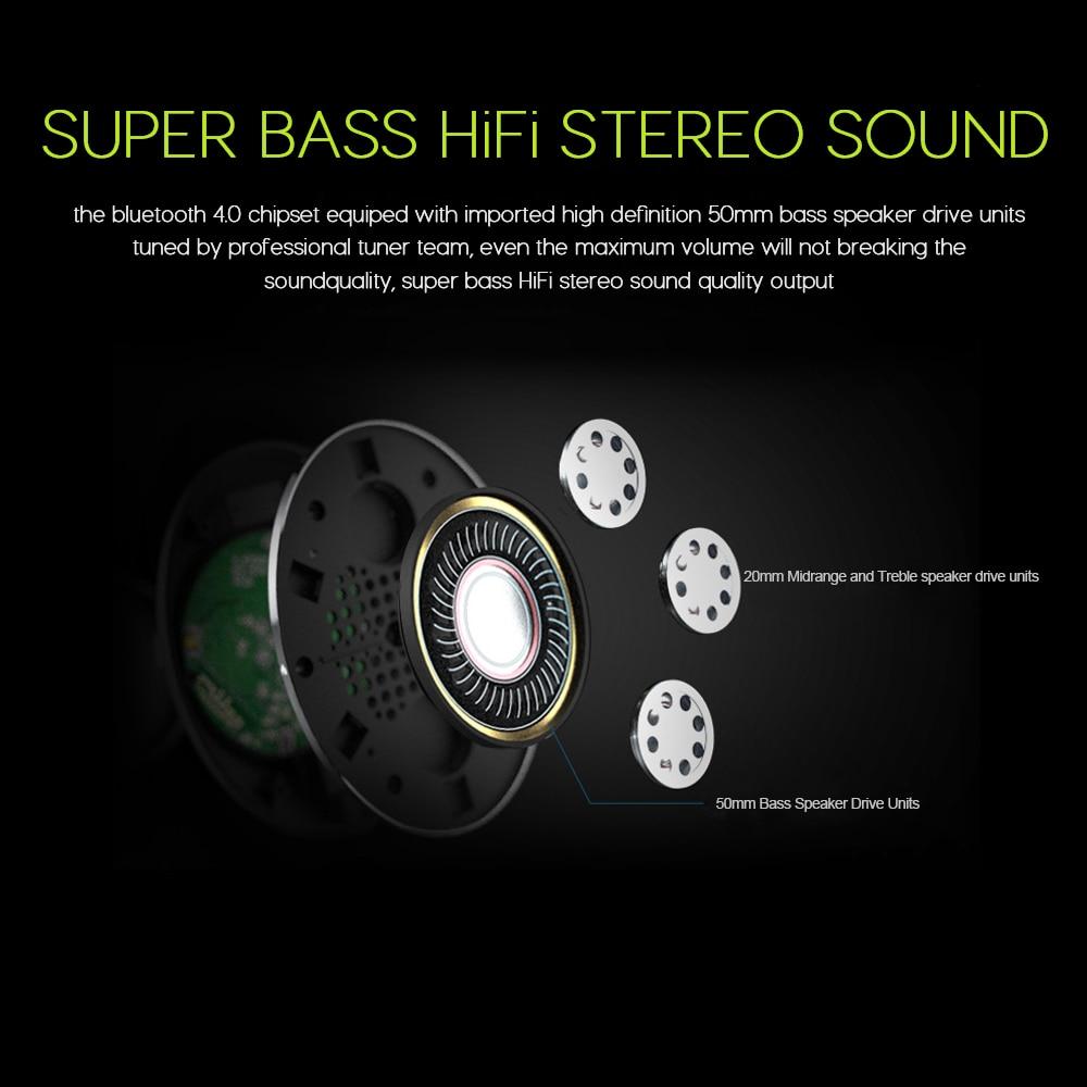 ZEALOT B570 cuffie Stereo Bluetooth HiFi cuffie Wireless supporto pieghevole Micro SD Card microfono AUX