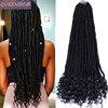 Tanrıça Faux Locs tığ saç 20 inç sentetik örgü saç kıvırcık biter Ombre örgüler uzantıları yumuşak uzun Afro Dreadlocks