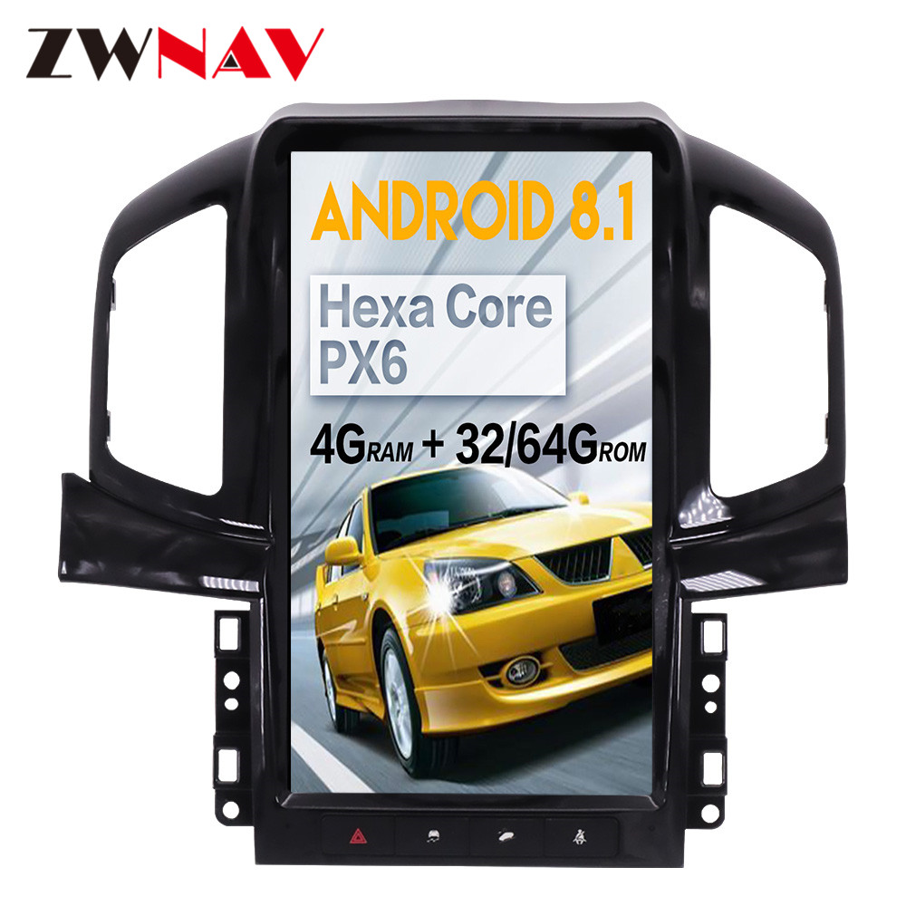 Tesla style Android 8.1 big screen Car DVD For Chevrolet Captiva 2013-2019 Auto Audio Video Radio Stereo GPS Navigation BT 1 din image