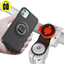 Yeni dağ bisiklet telefon tutucu iPhone 11 Pro XsMax 8 artı 7s 6 bisiklet gidon montaj cep telefonu standı darbeye dayanıklı durumda