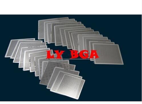27pcs Universal  Direct Heating BGA Stencil For Chips Reballing