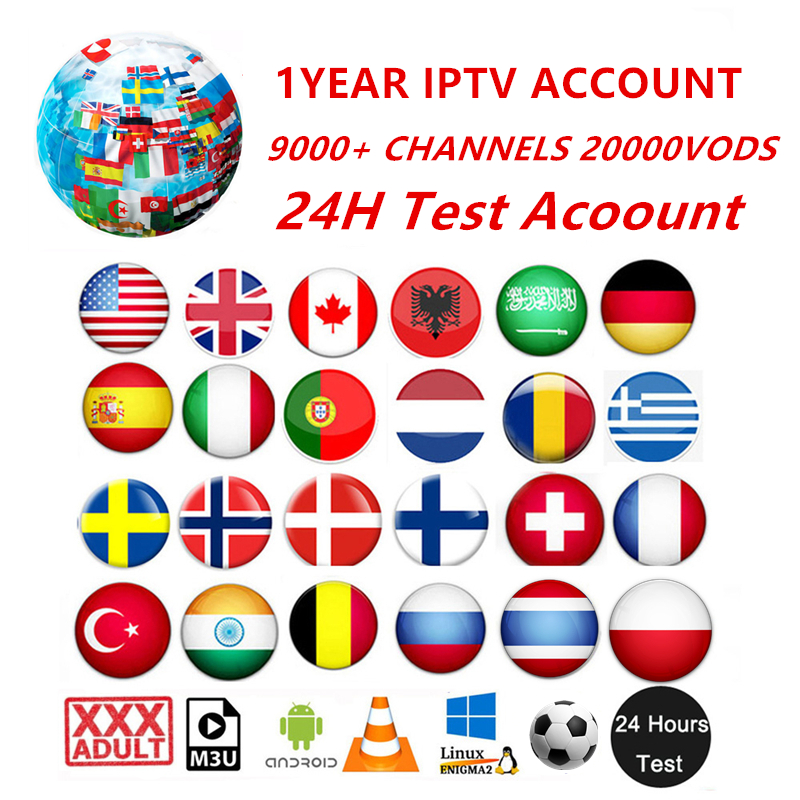 1YEAR HD World Iptv 10000 Live 20000 VOD 4K Live Best For Europe Sweden Arabic Arabic USA Africa France M3U Iptv Subscription
