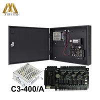 LAN Card Control Panel For Four Doors C3 400 Door Access Control System With Protect Box Door Control Board