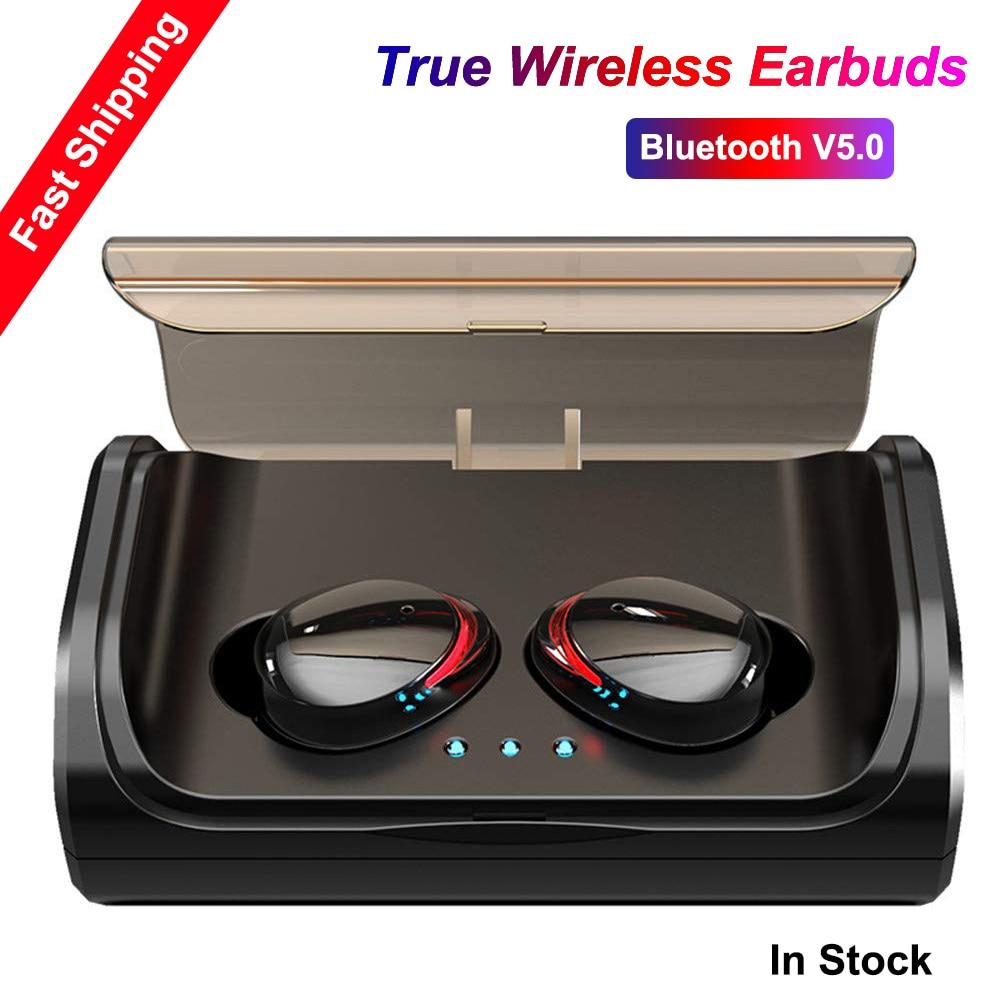 TWS T8 Binaural Bluetooth 5 0 Earphone Touch True Wireless Earbuds Waterproof Headset Stereo Bass Headphones