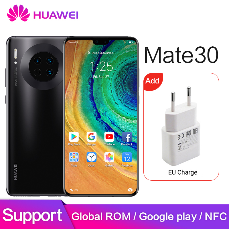 Huawei Mate 30 Global ROM NFC Google Apps 8GB 128GB 40MP HUAWEI Mate30 Pro Mobile Kirin 990 6.62
