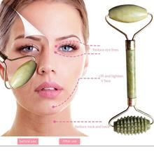 1pc Double Head Facial Slim Massage Roller Jade Face Slimming Body Head Neck Massage Tools Nature Face Skin Care Tool