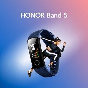 Image 2 - Honor מקורי להקת 5 חכם צמיד הגלובלי גרסה דם חמצן smartwatch AMOLED כושר צמידי לב קצב שינה tracker