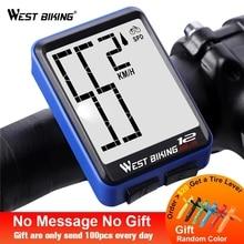 WEST BIKING Large Screen Bicycle Computer Wireless Waterproof Bike Speedometer Stopwatch With Backlight Bike Bicycle Speedometer