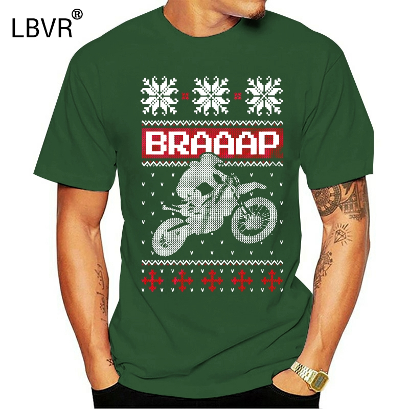 Newest 2020 Men's Fashion Motocross Ugly Christmas Sweater T